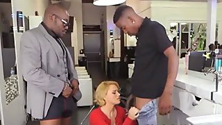 Double penetration with big black cocks