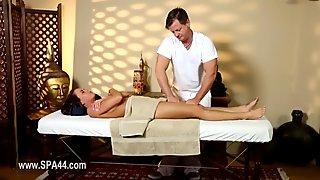 Poor models banged hard in special masseur