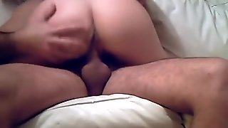 Sexy home video of friends fucking on sofa