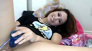 18yo cute teen girl pushing her dildo deep in her ass - PUSSYFIELD.COM