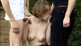 British MILF fuck with strangers anal DP