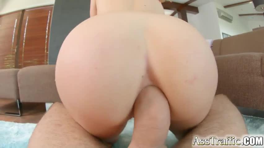 Ass Traffic sexy girl swallows cum after anal fucking