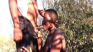 busty african babe picked up for orgy