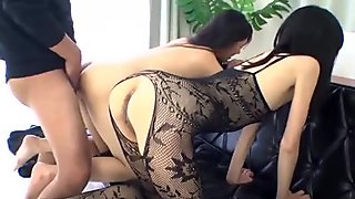 Bounded oriental receives salacious anal and cookie toying