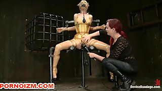 BDSM Lesdom Latex Slave Doll Punishments