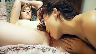 Todellinen lesbos lähikuva cunny slurping