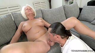 Blonde Granny still loves hard cock