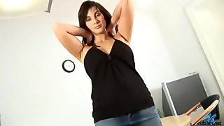 Glamour Nubile Conny unveals big tits and gets her ass fucked