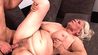 Busty grandmother pussyfucked passionately