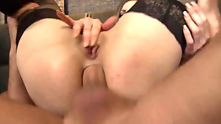 Busty euro buttfucked reverse cowgirl style