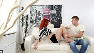Anal Creampie For A Charming Redhead