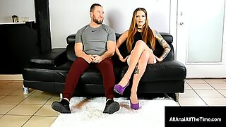 Butt Banged Babe Maria Marley Gets Her Tight Asshole Packed As Guy Looks On