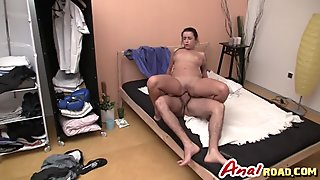 Amateur Latina anal reverse cowgirl white dong