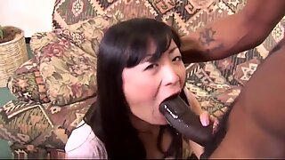 Housewife lets big big black cock bang her then swallows