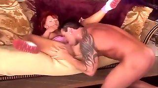 Dirty Euro Redhead Rides Her Man's Boner