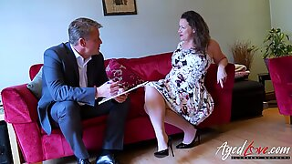 AgedLovE Bussinesman Seduced by Hot Mature Mom