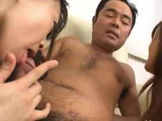 FFM asian threesome from asian