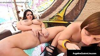 Iso kaunotar Angelina Castro & Neitsyt Peridot maito a musta kulli