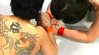 Asian dragon dominates her opponent