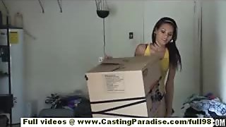Cassie Cruz independent latina brunette babe doing blowjob