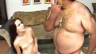 Peanut Butter Slob Fucks Latina