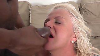 Nasty blonde bitch loves it hard when