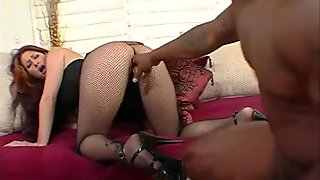Hunk strap on ass fucked by a very hot sex bomb