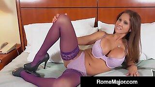 Aisankannattaja rio blaze poked by dark-hued bull hotel guy Rooma Major!