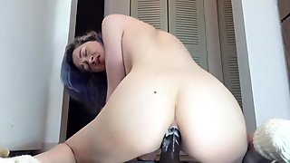 Anal dildo action