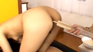 Playing with her korean anus hole