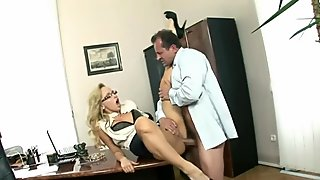 Euro slut Aleska Diamond lifts her skirt to get fucked